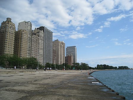 A view of the running path along Lake Michigan.  Seriously - this is such a great area to run around.