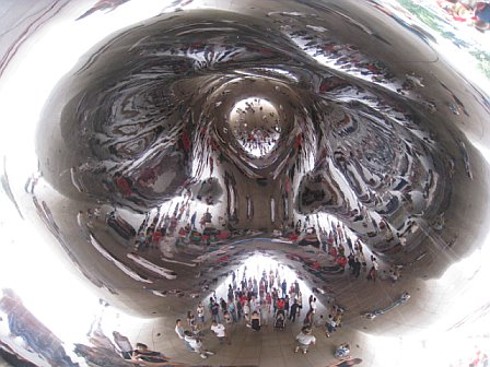 A view from the center of the bean.  Kinda weird.