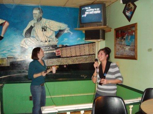 Picture of me singing karaoke.
