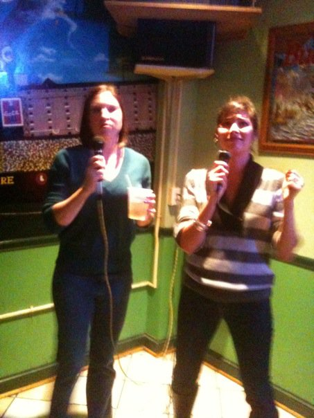 Picture of me singing karaoke.