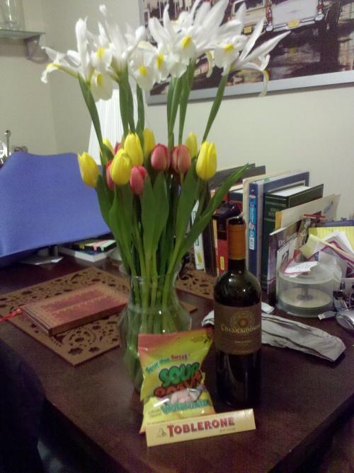 Photo of my anniversary flowers
