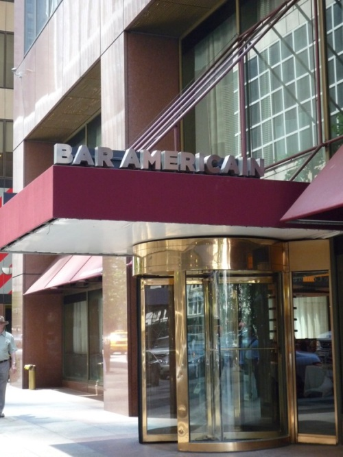 A photo of the entrance to the Bar Americain restaurant
