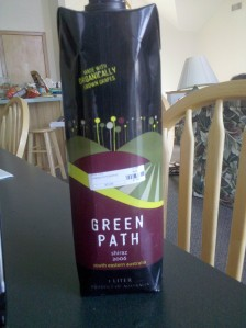 Image of the Green Path Shiraz Wine package