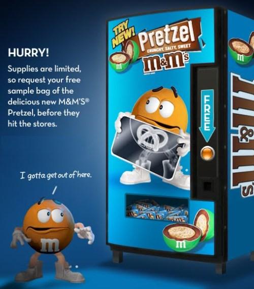 Pretzel M&M ad
