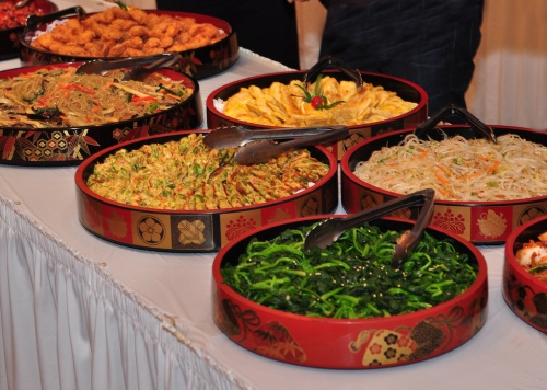 A photo of some of the food served at the party